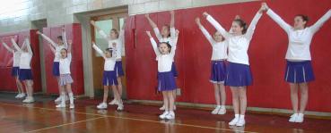 Cheerleading at Basketball Game